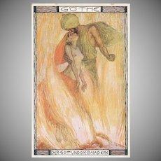 Austrian Gothe 'Der Gott Und Die Baiadere' Vintage Postcard
