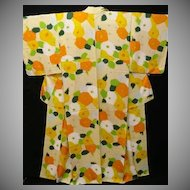 Art Deco Abstract Design Silk Floral Kimono c1925