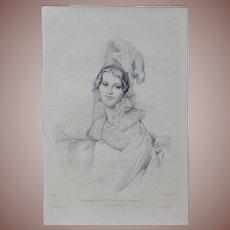 SALE:  French Burin Engraving after Ingres Gazette des Beaux Arts 1905