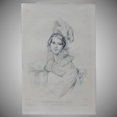 Antique French Burin Engraving after Ingres Gazette des Beaux Arts 1905