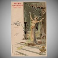 Palais du Costume Salambo French Advertising Postcard 1900