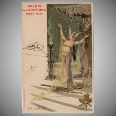 Palais du Costume Salambo French Advertising Postcard 1900