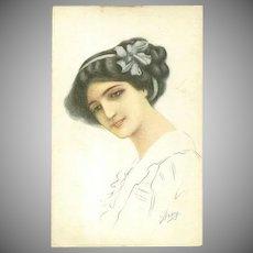 Signed Italian WWI Artist POstcard 1918