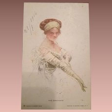 American Debutante Artist Postcard 1914