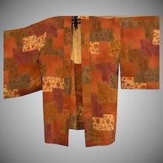 Art Deco Patchwork Effect Haori Kimono Coat c1920