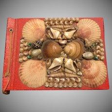 Rare Vintage Italian Seashell Souvenir Photograph Postcard  Album c1950