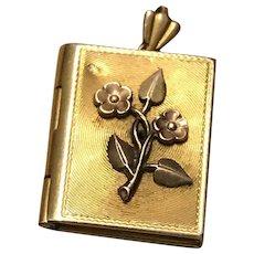 Gold Fill Edwardian Mourning Book Locket