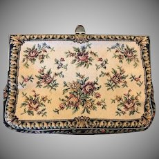 Tapestry Floral Clutch Evening Bag