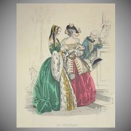 SALE: Victorian Signed Theatre Costume Engraving 'La Sylphide'