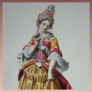 SALE: French Hand Finished Signed Fashion Engraving c1840