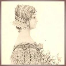 Art Nouveau German Artist Signed Lithographic Postcard 1897.