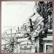 SALE: Original French Etching Joan of Arc  'Saint-Brieuc' c1890 Signed.
