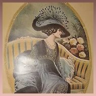 Vintage Signed Fashion Poster 'Toilette d'Apres-midi' 1976