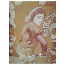 SALE: 19th Century French Needlepoint and Petitpoint Tapestry 'Jeanne Hachette' c1850