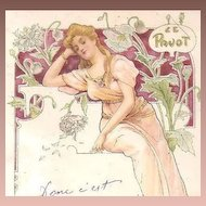 French Art Nouveau 'Poppy' Postcard 1907