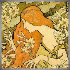 SALE: Original French Lithograph 'L'Ermitage'  Les Maitres de L'Affiche  1900..Signed Berthon Rare.