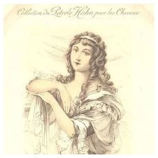 Art Nouveau French Etched Shampoo Advertising Postcard 'Madam Roland' 1912
