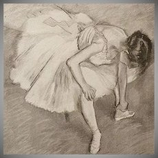 After Degas Limited Edition French Engraving 'Danseuse' for Review L'Image 1897 Rare