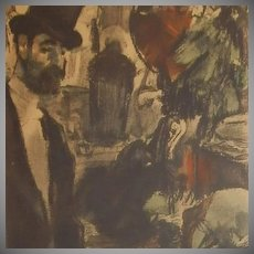 Edgar Degas  Limited Ed 332/500 French Monotype Etching 'La Famille Cardinale' Series 1948