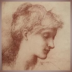 Original Signed French Lithograph 'Beauty' By Burne-Jones 1898 L'Estampe Moderne series. Very Rare