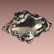 Victorian Pressed Repousse Brooch Pin c1900