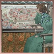 SALE: Original Signed Limited Edition French Lithograph 'Solveig' 1898 L'Estampe Moderne series.