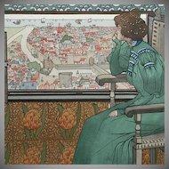 SALE: Original Signed Limited Edition French Lithograph 'Solveig' 1898 L'Estampe Moderne series.