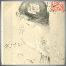 SALE: Patella French Postcard 'Sirene' 1902