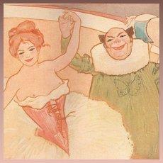 Antique Color Studio Magazine Circus Print 1901.