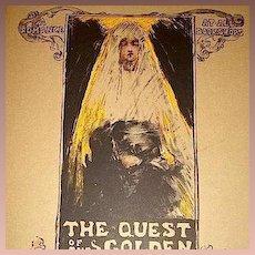 SALE: Original French Limited Ed. Art Nouveau Signed Lithograph 'Quest for the Golden Girl' Les Maitres de L'Affiche series 1896