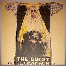 Art Nouveau Limited Edition Signed Lithograph 'Quest for the Golden Girl' Les Maitres de L'Affiche series 1896