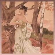 Original French Signed 'Artemis' Lithograph 1898 L'Estampe Moderne series. 1897