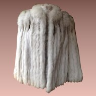 Superb Finland Natural Blue Fox Fur 3/4 Length Jacket
