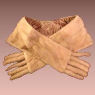 Pastel Honey Blond Natural Mink Stole/Wrap with detachable Tails. Vintage Cornelius.