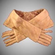 SALE: Natural Mink Stole/Wrap with detachable Tails. Pastel Honey Blond Vintage Cornelius.