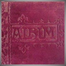 SALE: Victorian Autograph Album 'The Happy Thought' Xmas 1888-1895.