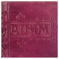 Victorian Autograph Album 'The Happy Thought' Xmas 1888-1895.