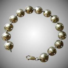 SALE: Sterling Silver Celtic Shield Link Bracelet