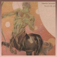 SALE: Zodiac Centaur Art Nouveau French Sagittarius Paris Expo Postcard 1900