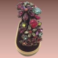 Vintage Sorrelli Multi-Color Swarovski Crystal Cuff Bangle Bracelet. Hard to Find.