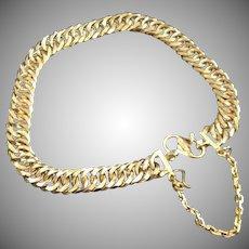 22 Karat Yellow Gold Link Chain Bracelet Bangle