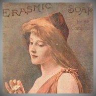 Erasmic Soap for the Complexion British Art Nouveau Advertising Post Card