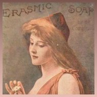 Erasmic Soap for the Complexion British Art Nouveau Advertising Post Card