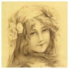 Art Nouveau French Issue Vienne Postcard c1900 by Toussaint