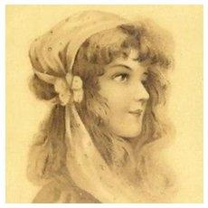 Art Nouveau French Issue Vienne Postcard c1900