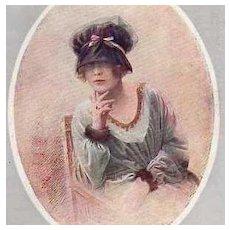 SALE: French Artist Fashion Postcard 'Nos Jolies Artistes'. c1920 Art Deco