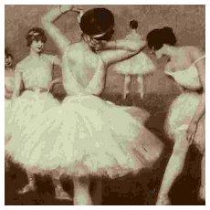 SALE: Russian Ballet Dancers Salon de Paris Vintage Postcard