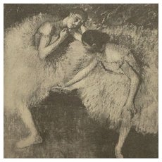 Dancers at Rest (Danseuses au Repos) by Edgar Degas 1914 French Photogravure