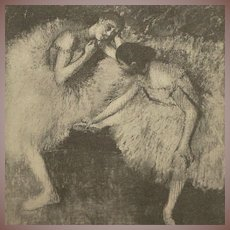 Dancers at Rest (Danseuses au Repos) by Edgar Degas 1914 French Photogravure