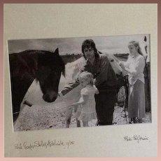 Paul McCartney Original Artist Signed Photograph 1975.